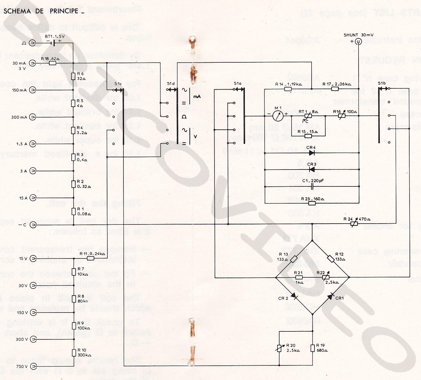 Schema d 39 un multimetre for Fonction d un multimetre